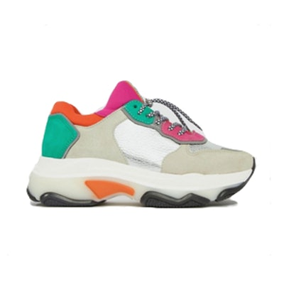 Bronx Multi Brights Metallic Suede Chunky Sneakers