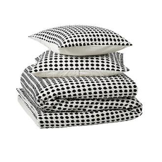 Estela Matlesse Black And White Full/Queen Bedding