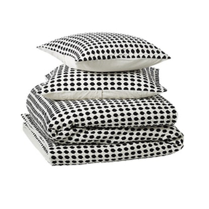 Estela Matlesse Black And White Full/Queen Bedding