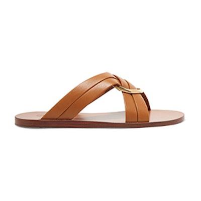 Rony Embellished Leather Slides