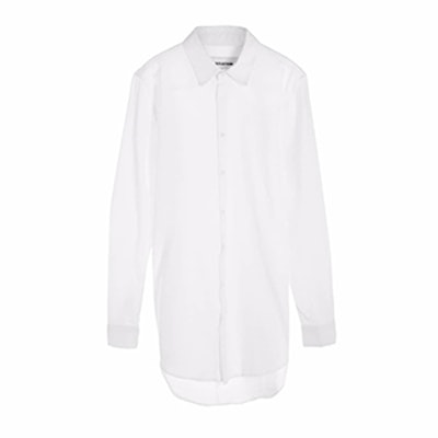 Women's Tall Button Up White Shirt