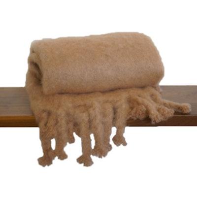 Handwoven Mohair Blanket Camel