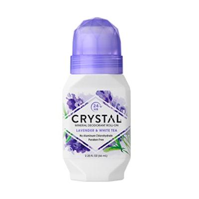 Crystal Mineral Deodorant Roll-On – Lavender & White Tea