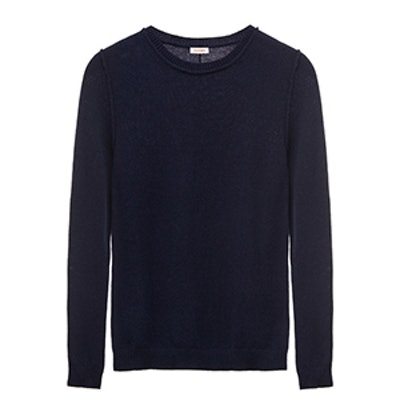 Wool Cashmere Slim Crewneck Sweater
