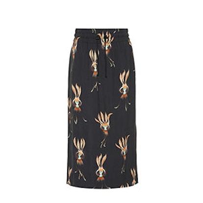 Printed Crêpe Skirt