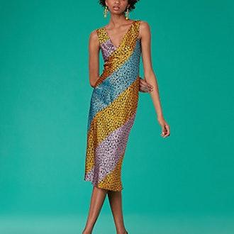 Bias Midi Satin Dress