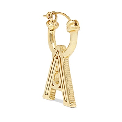 A-Z Alphabet Gold-Plated Earring