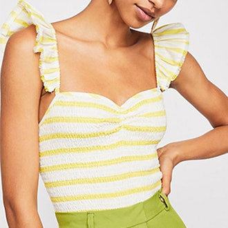 Hyde Smocked Top