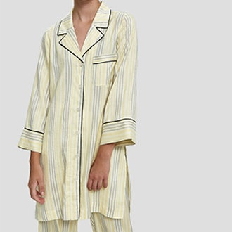 Bergamot Silk Long Shirt