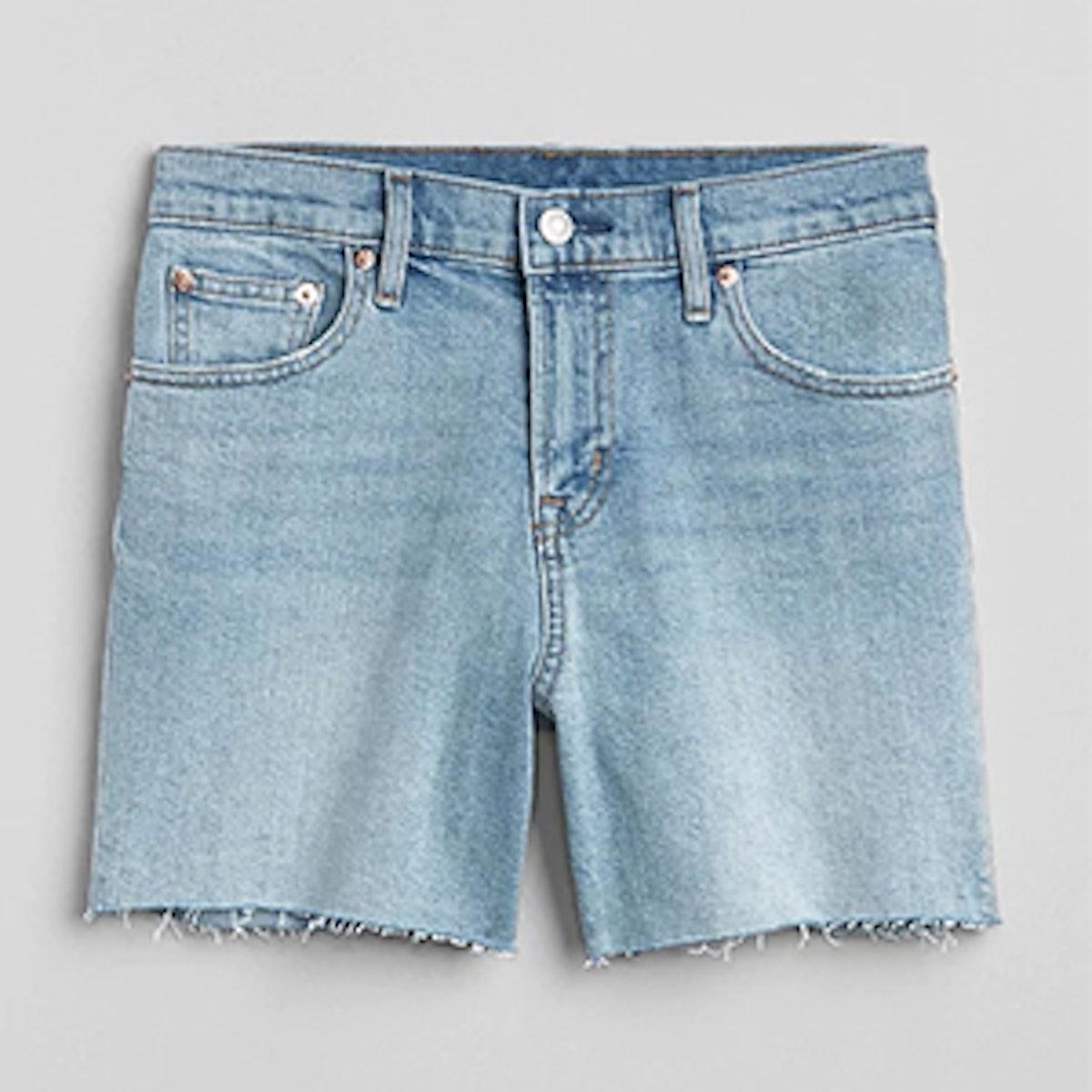 Washwell Mid-Rise 5′ Denim Shorts