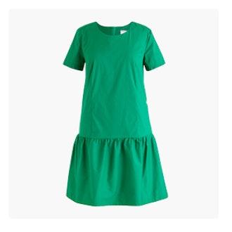 Poplin Drop-Waist Dress