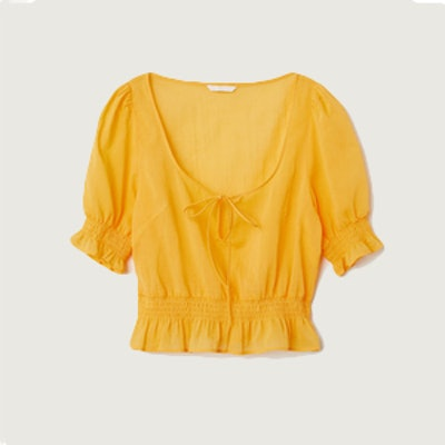 Airy Blouse with Smocking