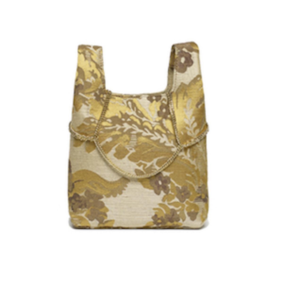 Gold Watercolor Mini Shopper on a Chain