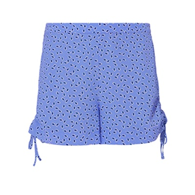 Dinah Blue Dot Silk Shorts