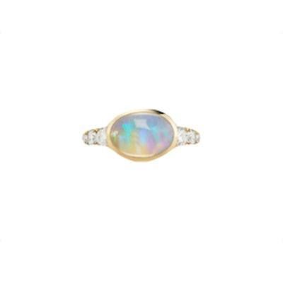 Toujous Opal Diamond Ring