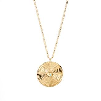 Iris Durango Turquoise Pendant Necklace