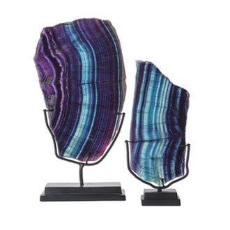 Fluorite Mineral on Stand