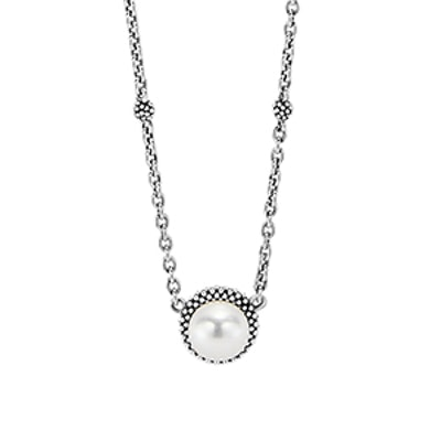 LAGOS 'Luna' Pearl Pendant Necklace