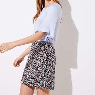 Floral Lacy Pocket Shift Skirt