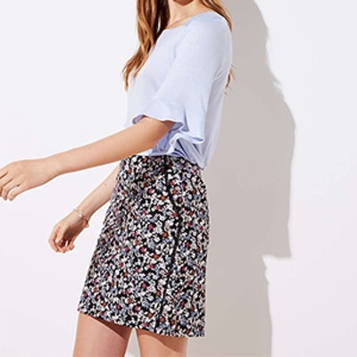 Floral Lacy Pocket Shift Skirt