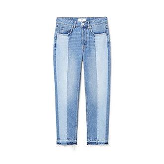 Contrast Panels Jeans