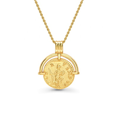 Lucy Williams Roman Arc Coin Necklace