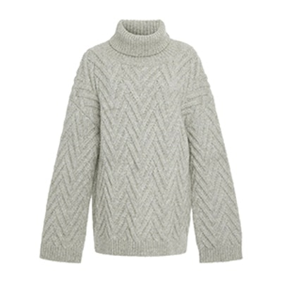 Nili Lotan Lee Chunky-Knit Turtleneck Sweater