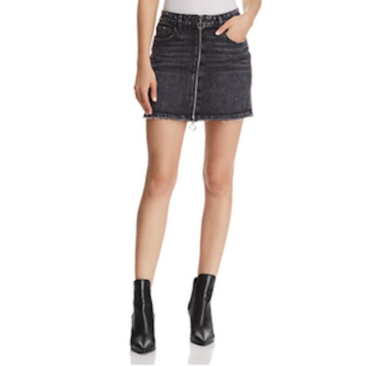 Paige Aideen Denim Mini Skirt in Myra