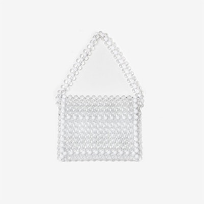 White Beaded Bag