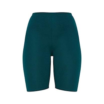 Emerald Green Basic Bike Shorts