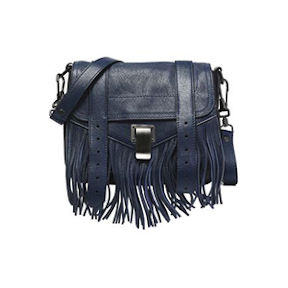 PS1 Fringed Leather Shoulder Bag