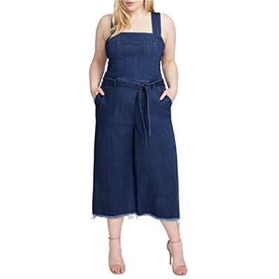 RACHEL Rachel Roy Denim Crop Wide-Leg Jumpsuit