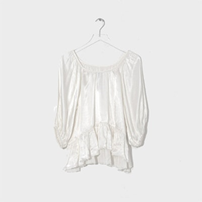 Raquel Allegra Peasant Ruffle Top