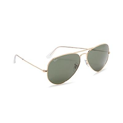 Over-Sized Aviator Sunglasses