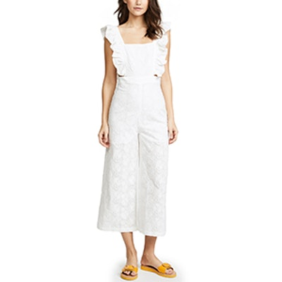 re:named Ruffle Overall Jumpsuit