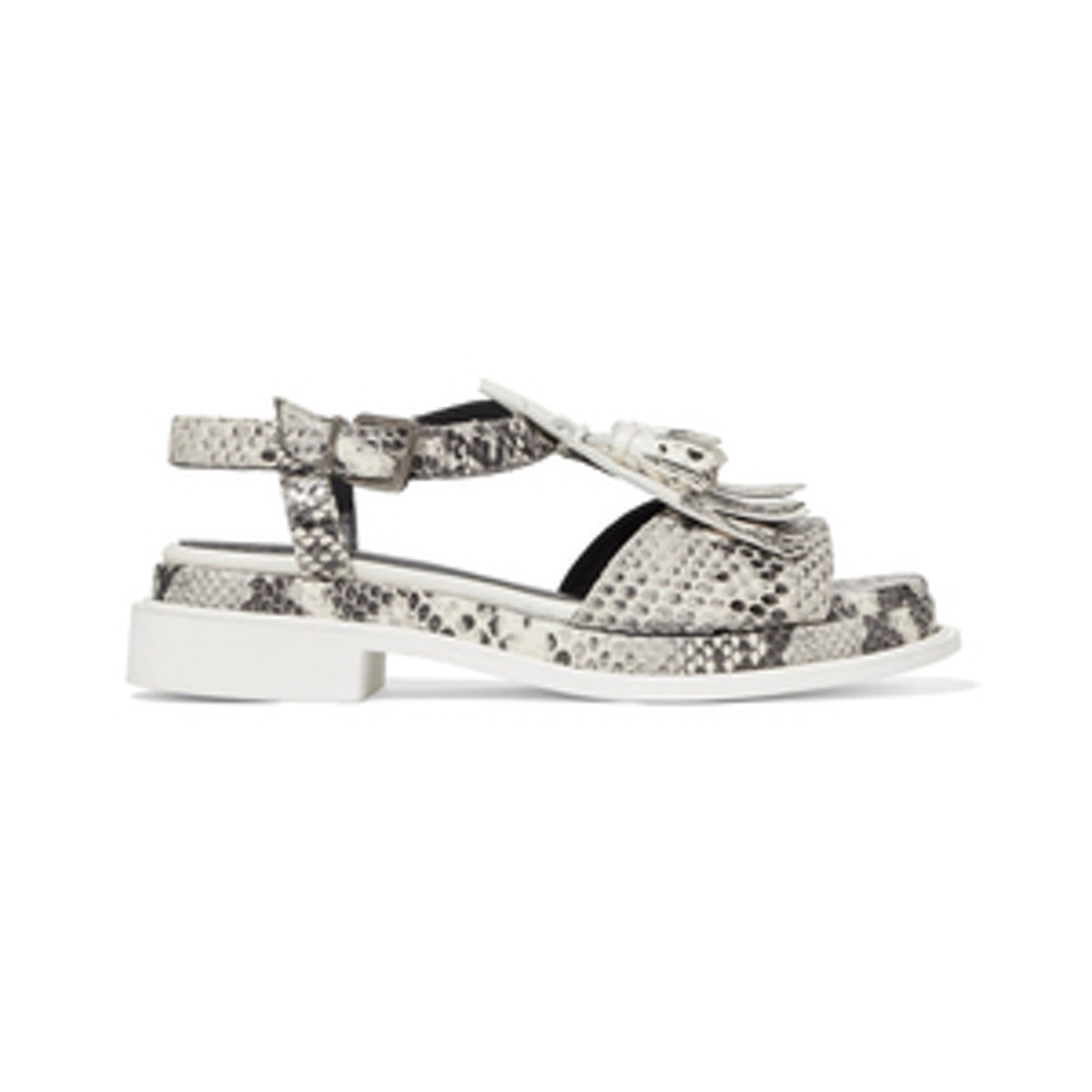 Coco Fringed Patent-Leather Sandals