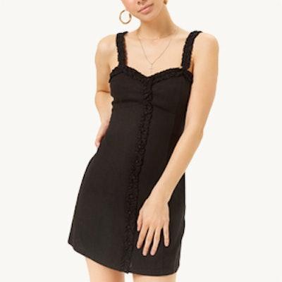 Ruffle Trim Mini Dress
