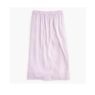 Cupro Shirred Midi Skirt