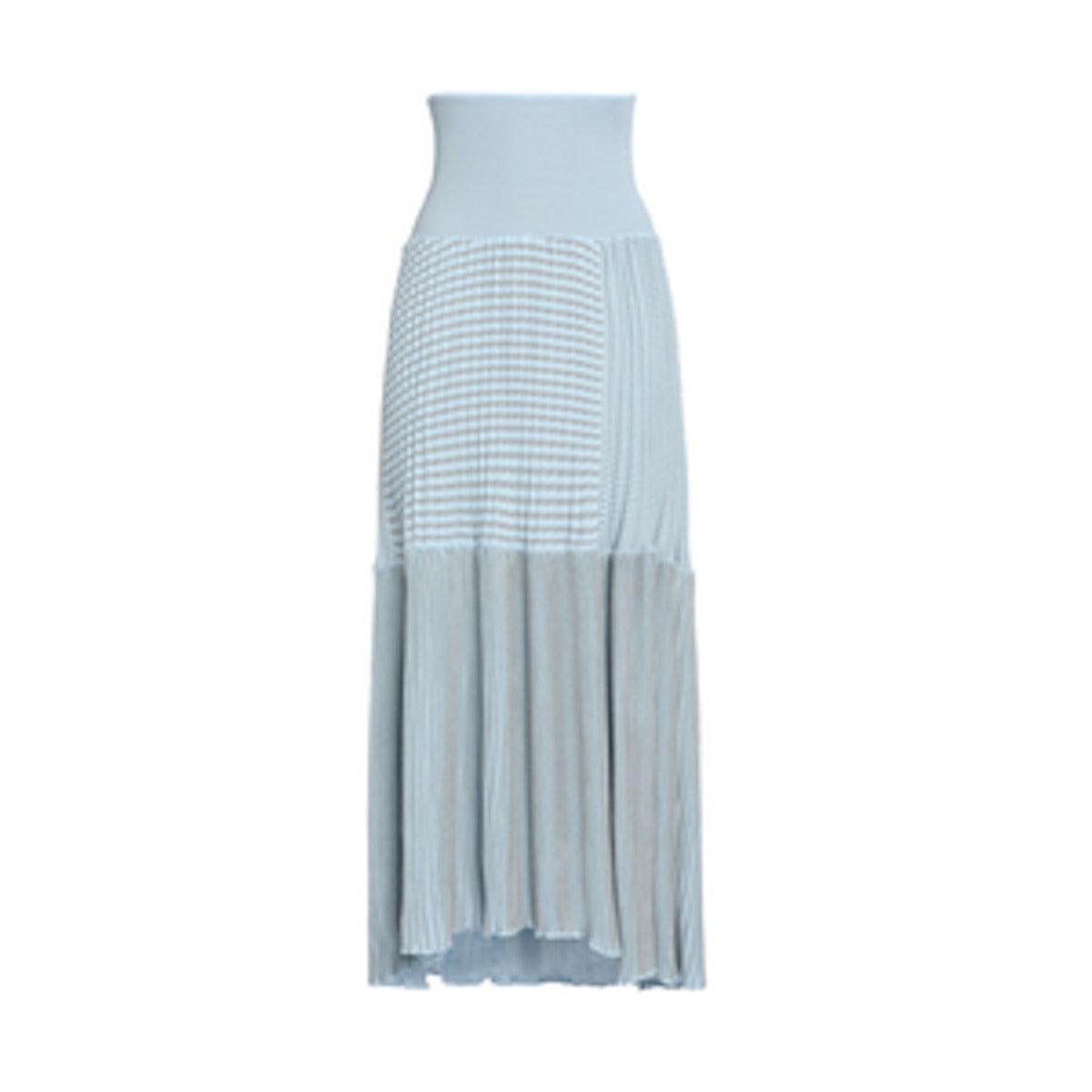 Paneled Ribbed Cotton-Blend Maxi Skirt