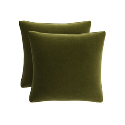Throw Pillow in Moss Velvet