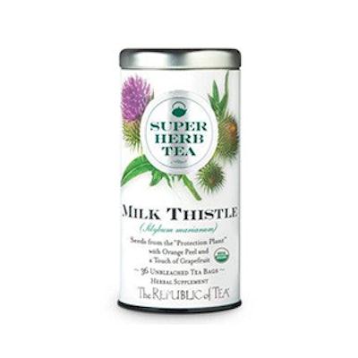 The Republic Of Tea Organic Milk Thistle Superherb Tea Bags