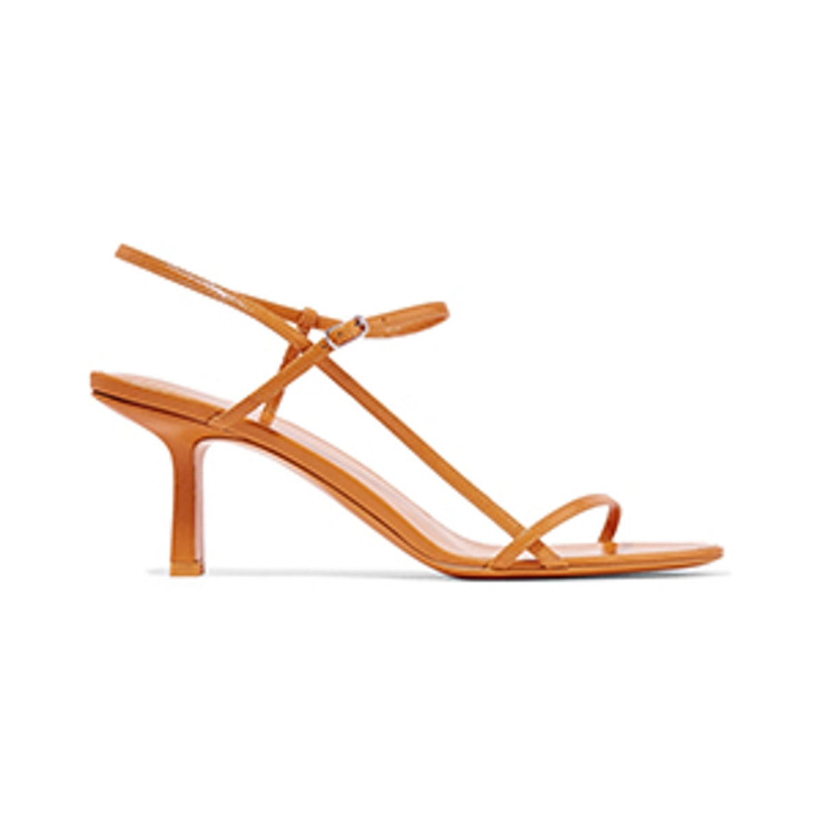 The Row Nude Leather Sandals