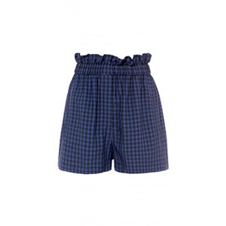 Gingham Pull On Paperbag Shorts