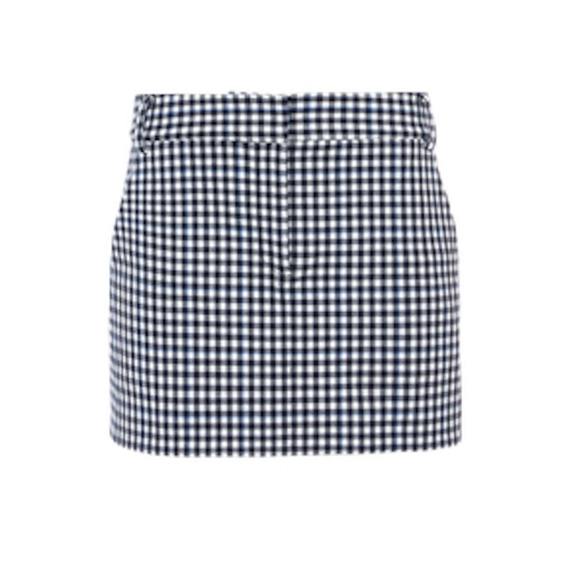 Gingham Mini Skirt