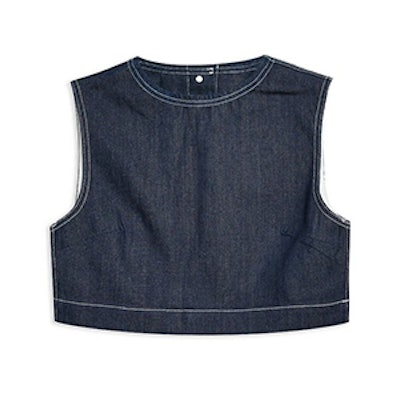 Cropped Denim Tank Top