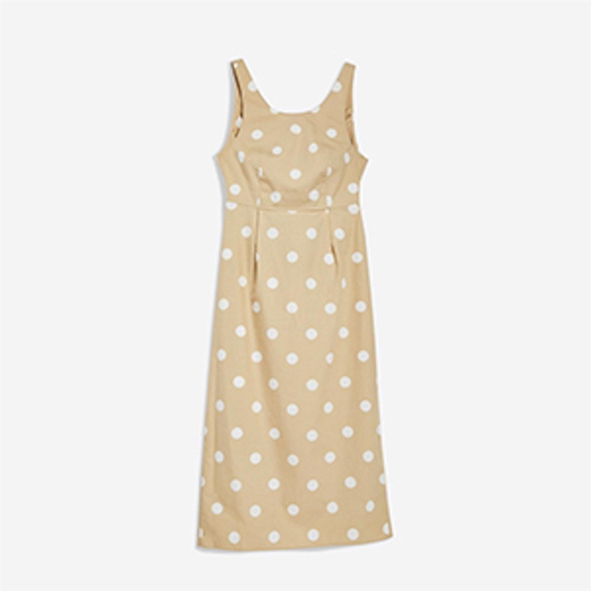 Polka Dot Tie Back Dress