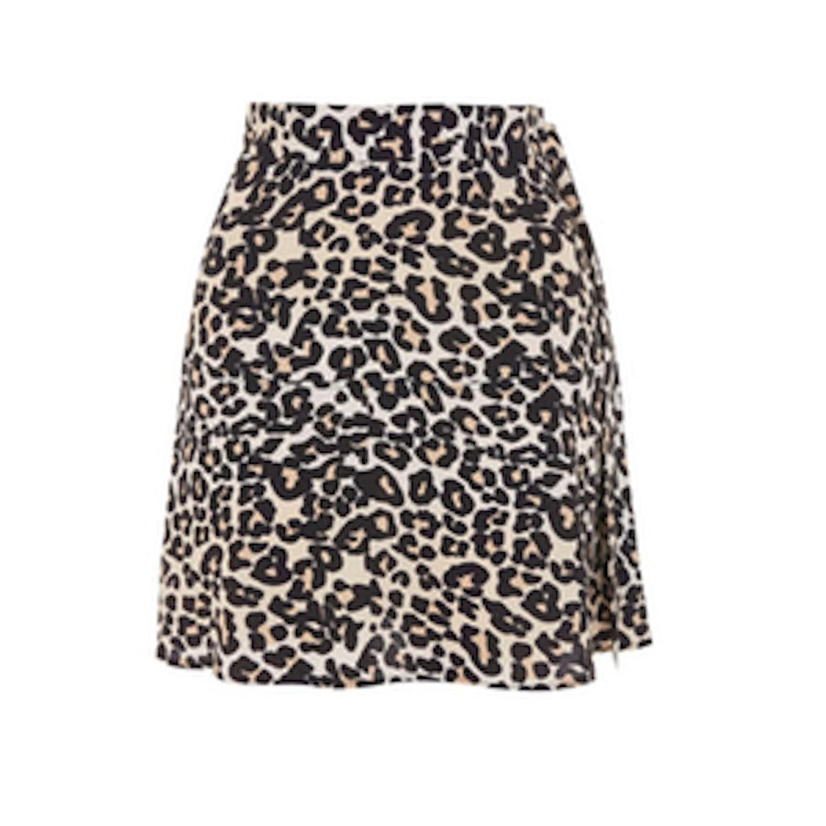 Topshop Leopard Print Miniskirt