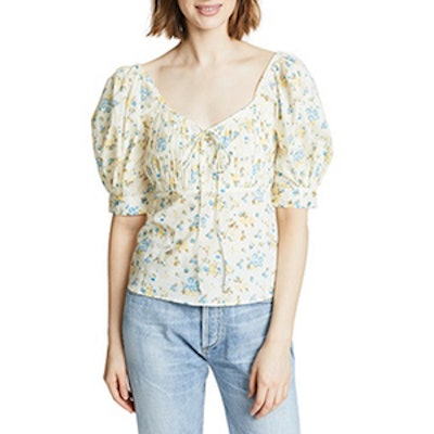 Valencia and Vine Kate Ditsy Floral Babydoll Top