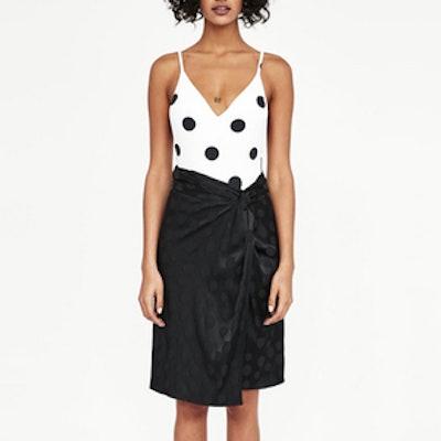 Jacquard Polka Dot Skirt