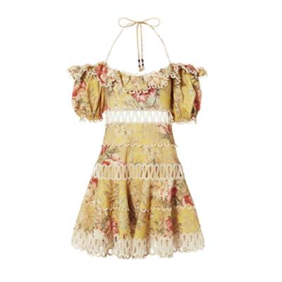 Zimmermann Melody Off-Shoulder Mini Dress